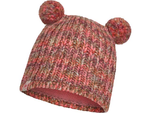 Buff Lera Bonnet tricot intérieur polaire Enfant, flamingo pink
